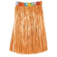 nylon hula skirt tan