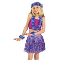 purple hula skirt